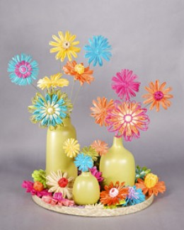 Martha Stewart's interpretation of the vibrant 1960s color palette would be fantastic for a spring or summer wedding.