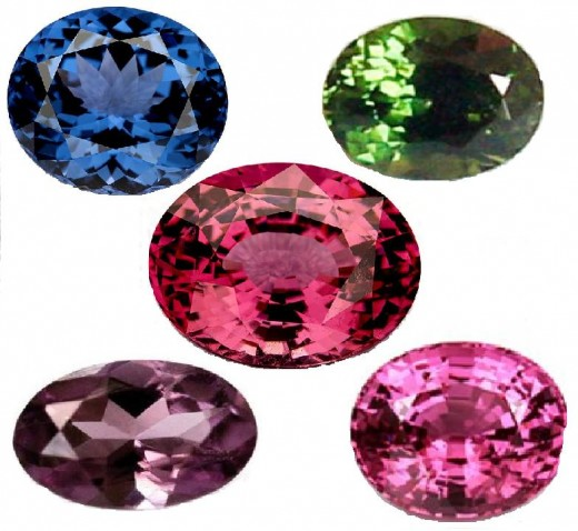 Different Colors of Spinel