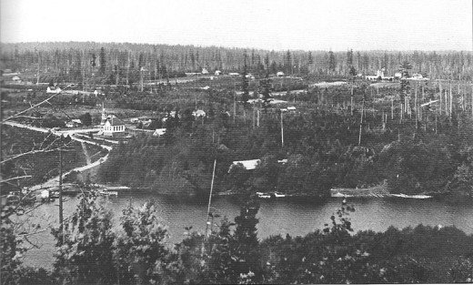 Comparison: rural Bellevue in 1902.