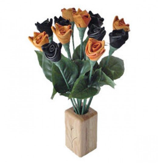Black rose leather gifts