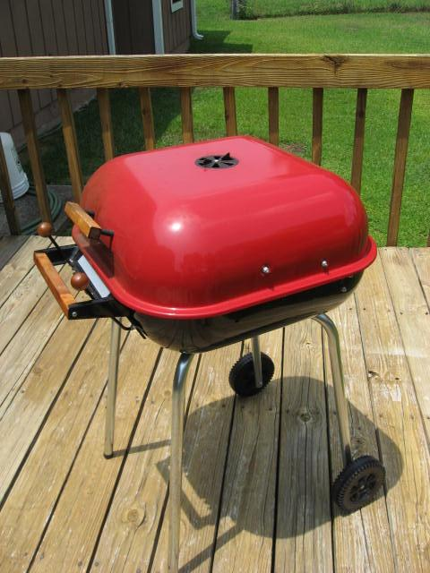 Image A - My Meco 4100 Series Swinger grill after more than two years of extensive use.  Keep your charcoal grill clean and dry to preserve its charming appearance and extend its useful life.