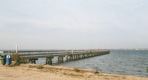 Use a Fishing Pier to Crab, especially one Low to the Water!
