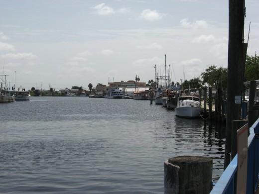 The Tarpon Springs waterfront.