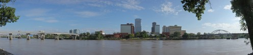 'The skyline of Little Rock, Arkansas, viewed from the north bank of the Arkansas River' - May 2009 Author: Matthew Field, http://www.photography.mattfield.com 'Permission is granted to copy, distribute and/or modify this document under the terms of