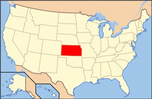 Map of USA - KS. This is a file from the Wikimedia Commons. http://en.wikipedia.org/wiki/File:Map_of_USA_KS.svg