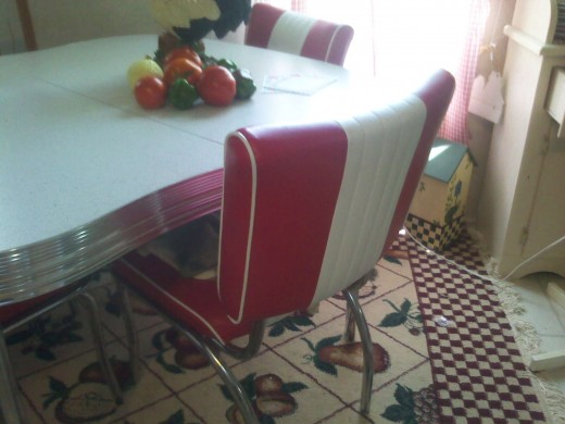 My own fifties dinette. Photo by me.