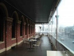 The hotel verandah - great place from which to watch Ballarat life unfold