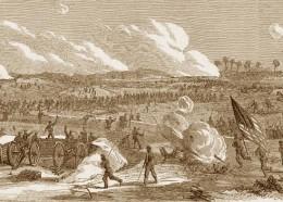 Scene from the battle