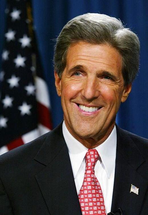 Massachusetts Senator John Kerry (Public Domain Photo courtesy of WikiPedia.org  http://en.wikipedia.org/wiki/File:John_F._Kerry.jpg )