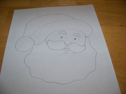 Christmas Craft Idea - Felt Santa Door Sign