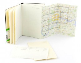 The City Notebook is specialized to the city it represents. It helps organize your trip as well as keep special memories you gain on your travels. Each book has detailed maps of the city as well as tabbed pages to jot favorite sights, restaurants, an