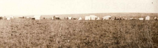 "The first settlement in what became Johannesburg - Ferreira's Camp in 1886, soon after the ""gold rush"" began"