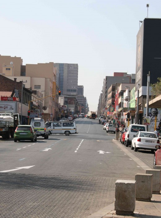 Bree Street in downtown Johannesburg, 2010. Photo by Tony McGregor
