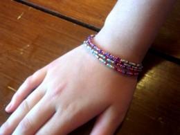 A simple multi-stand bracelet.