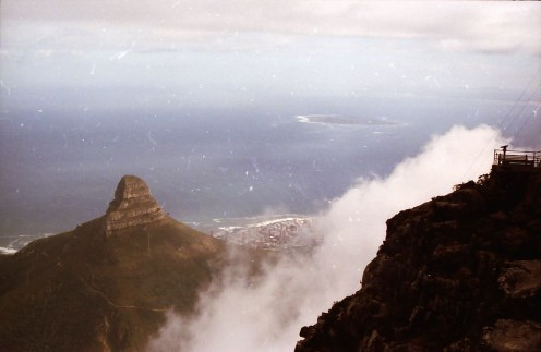 Looking down from Table Mountain. Photo by Tony McGregor