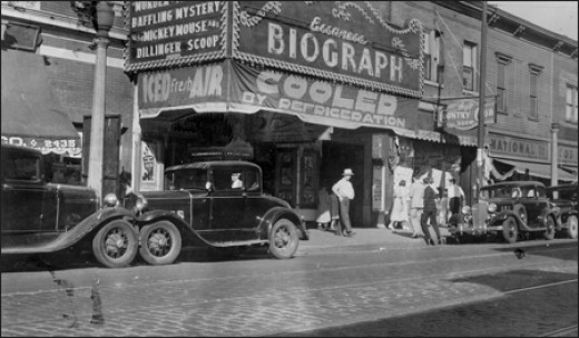 Biograph Theater in 1934, soon after Dillinger's death.