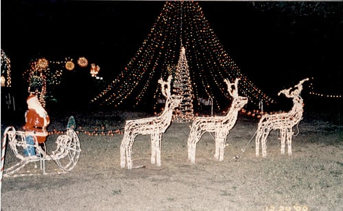 Three beautiful reindeer lights! Picture from flickr