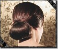Wearing the clasic bun means you look great coming and going.