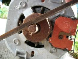 Damaged Motor Shaft being Filed