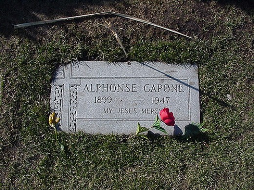 The grave of Al Capone is located in the Mt Carmel Cemetery in Hillside Illinois