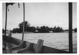 This little boat, the African Queen Two, used to take us between our home and Madang Township