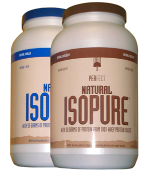 One of many formulas of protein powers available in the Isopure Brand