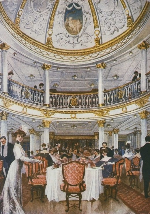 Lusitania dining room