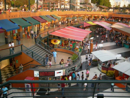 Center of Larcomar shopping mall