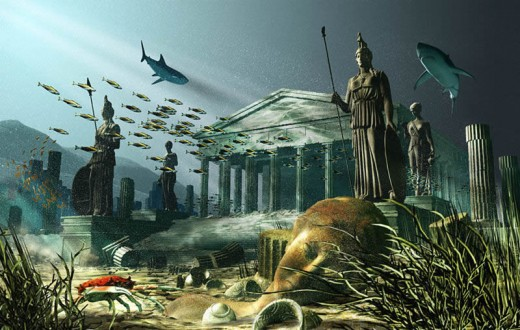 This popularized image of Atlantis is backed up by intriguing underwater sites all over the world. The underwater sites suggest more than one great world wide tumult.