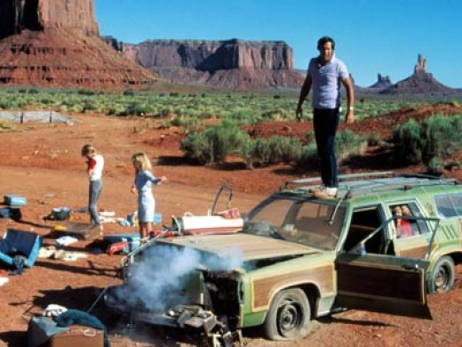 The vacationing Griswolds in Monument Valley