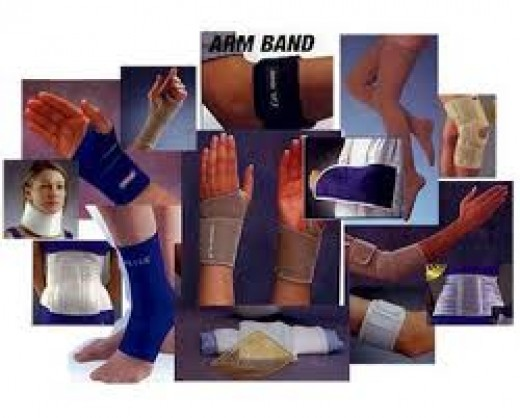 A variety of orthopedic braces