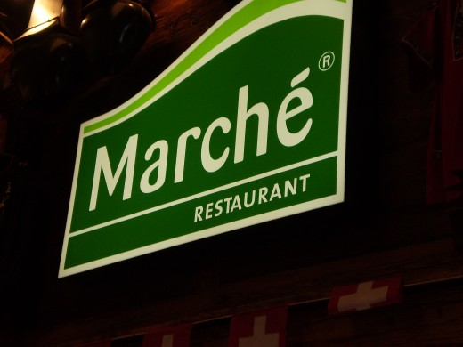 Taste delicious rosti, sausages, crepes and others at Marche Restaurant.