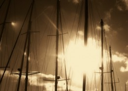 Yachts on the Buffalo River photo by Teresa Schultz.