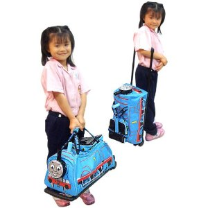 Roll or carry Thomas the Tank Engine luggage bag