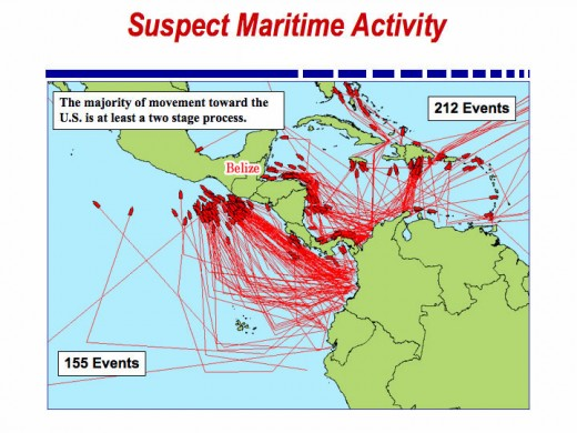 DEA Map Of Belize Drug Trafficking