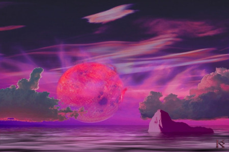 This is an artist rendition of a known planet on orbit around the nearby star Gliese.