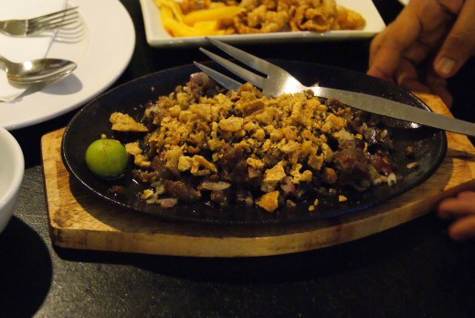 Sisig at Gerry's Grill.  There are so many restaurants in Cebu to choose from.