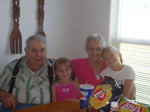 Grandma, Grandpa, and my girls