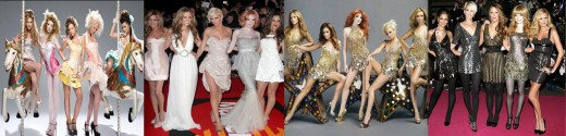 Cheryl with fellow Girls Aloud members: Nadine Coyle, Kimberley Walsh, Sarah Harding and Nicola Roberts