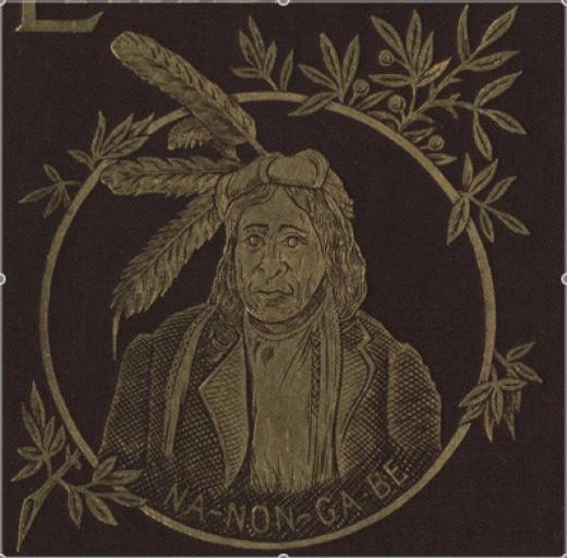 Ojibwe chief Nanongabe, 1891.