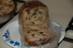 This is the kind of raisin bread you're looking for chock full of raisins and cinnamon swirls!
