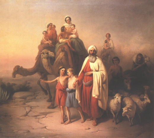 Abraham on his pilgrimage to and through Canaan, from deafbible.org