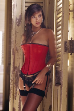 Vollers Red Satin Corset V1925u 125.99
