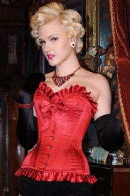 What Katie Did Gold Label Showgirl Laurie Red Corset 179.50