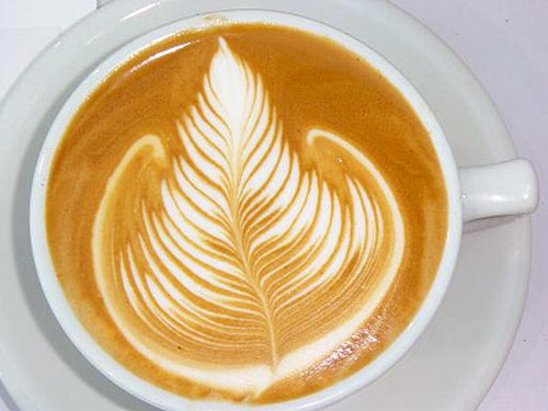 Cappuccino with Rosetta Artistry: