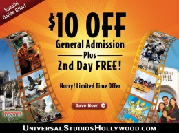 How to use a Universal Studios coupon Universal Studios has a number of theme parks that are themed around movies created and produced within their studios. You can buy a number of different passes for the theme parks that vary between one day and several days. The prices will vary, depending on the inclusions.