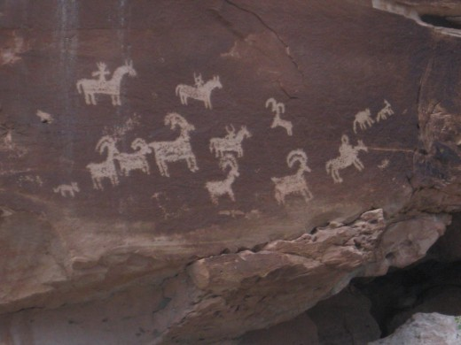 Petroglyphs at Arches NP