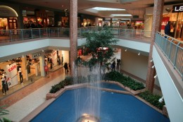 The fountain in Masonville Place