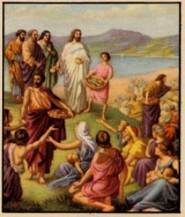 The miracle of the feeding of the 5,000 is based in part on sharing. This is one of Jesus' central ideas.