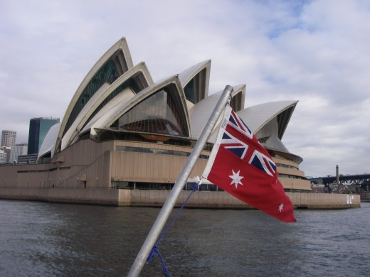 Opera House with flag